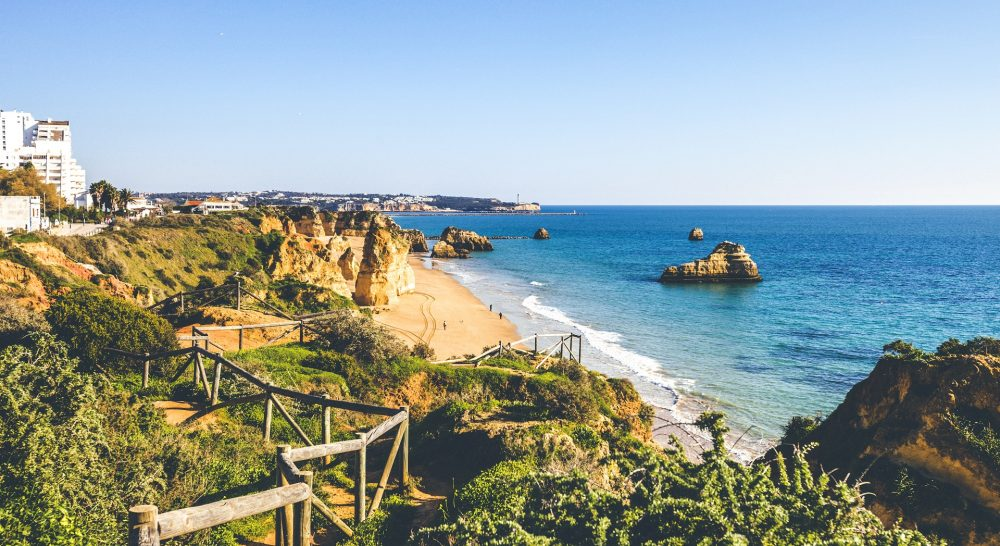 Algarve beaches.