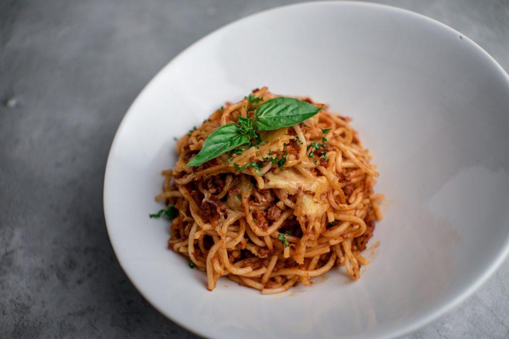 Italian spaghetti in bowl