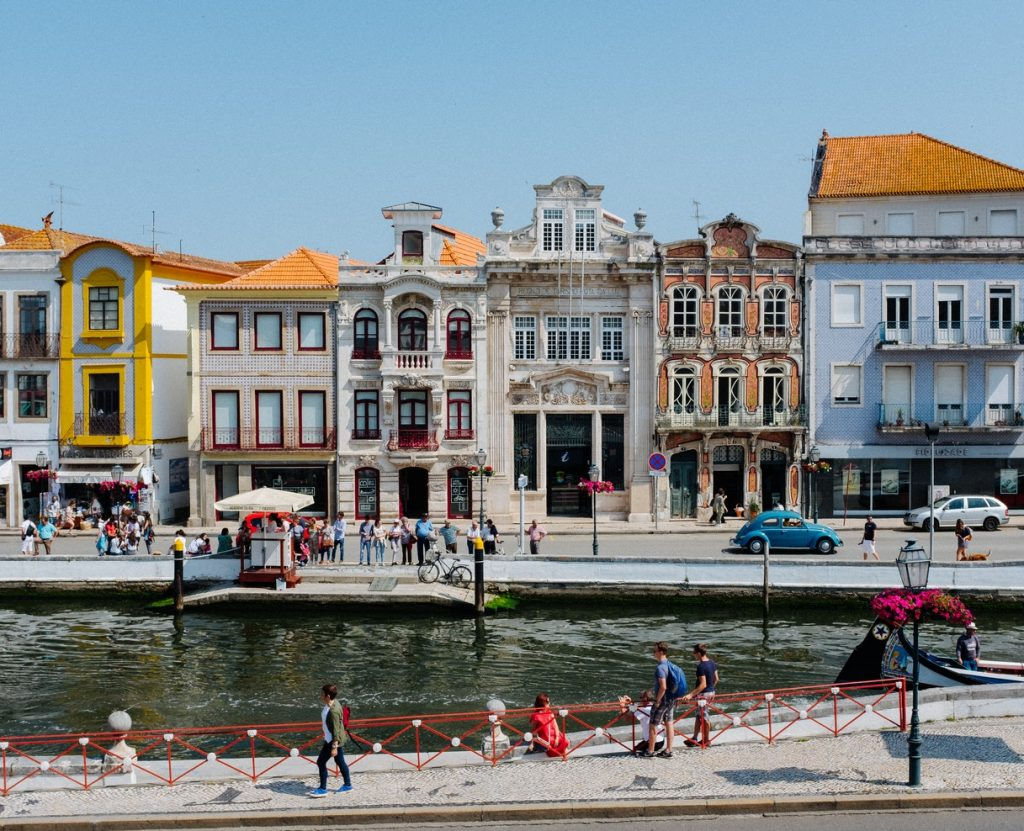 The canal in Aveiro