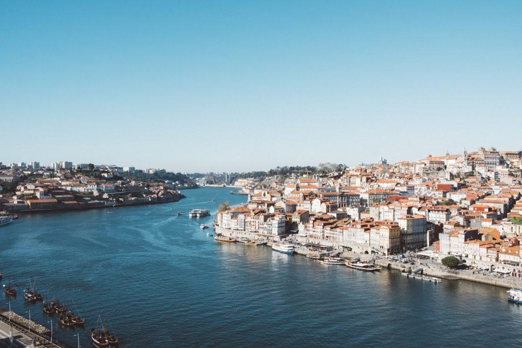 The coast of Porto in Portugal