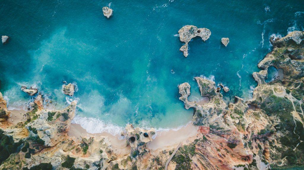 A beach in the Algarve